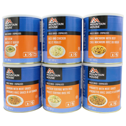 60 Servings Sampler Kit Entree - 6 cans (Mountain House®) #10 Can