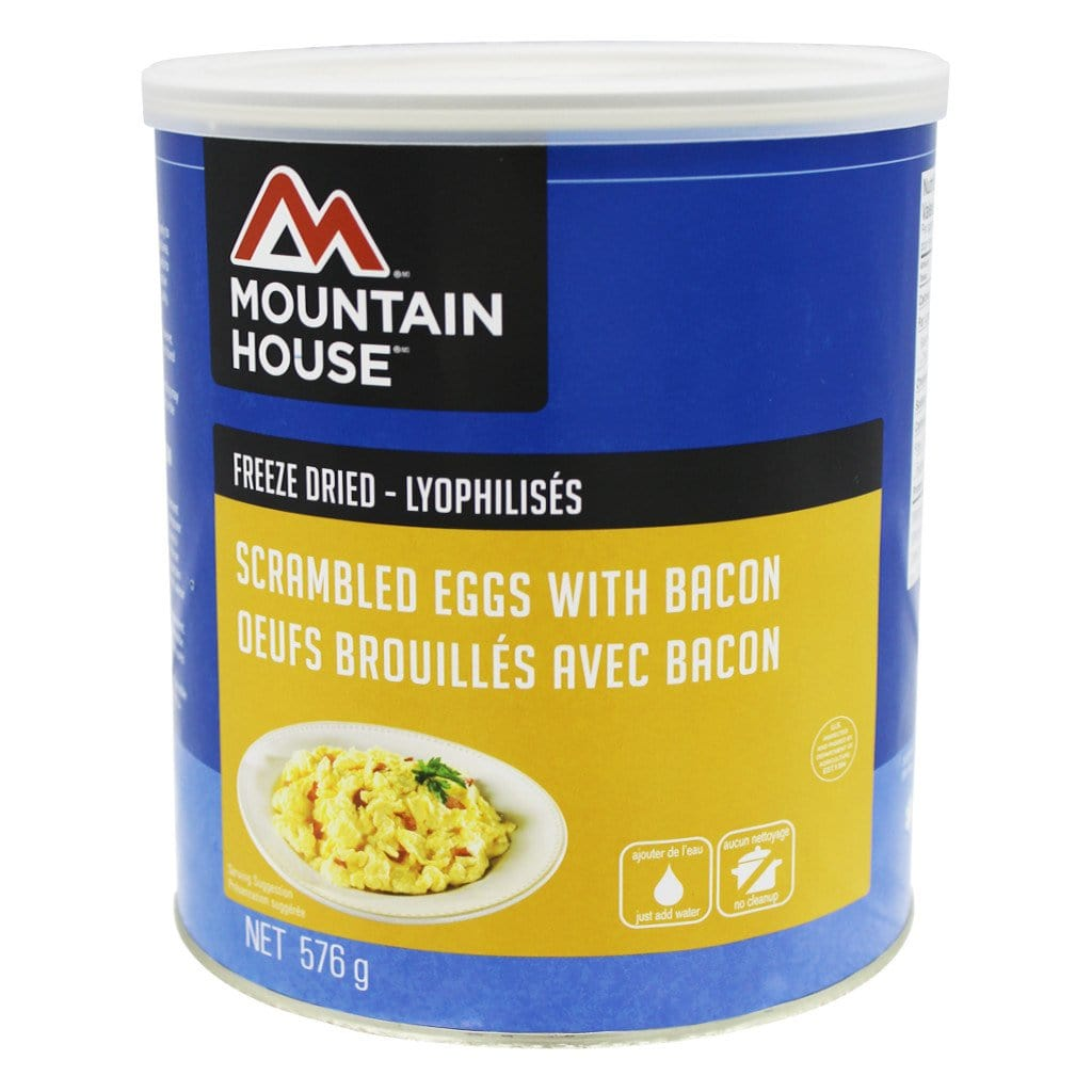 Canned Scrambled Eggs: Scrambled Eggs With Bacon #10 Can (Mountain House