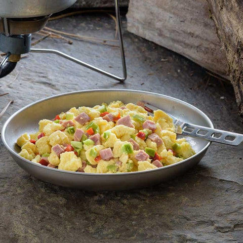 Scrambled Eggs With Ham, Red & Green Peppers - One Serving Entree