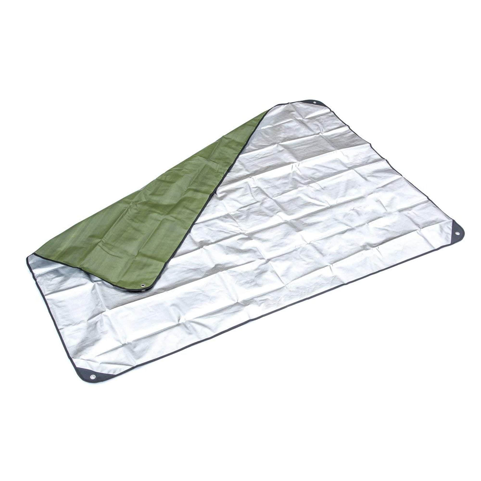 Green Double-sided Thermal Reflective Blanket opened interior
