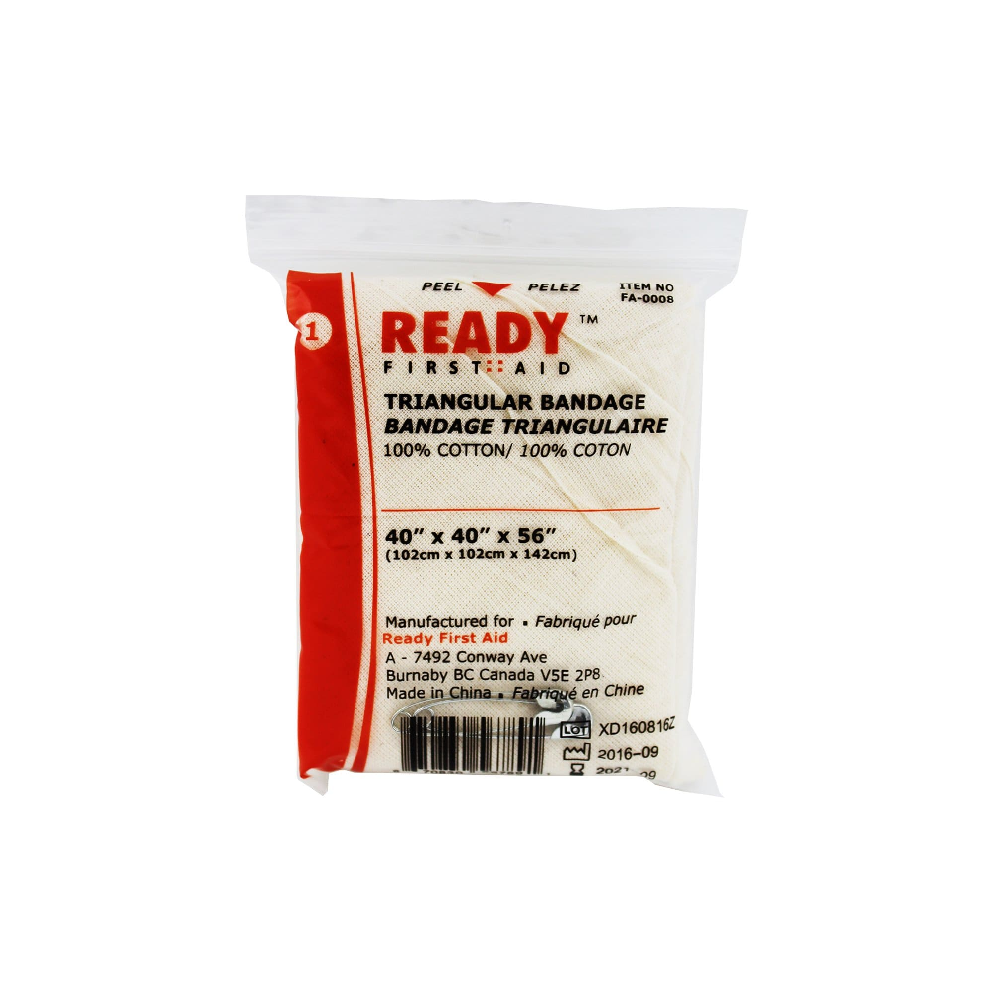 Triangular Bandage 102cm x 102cm x 142cm - Ready First Aid