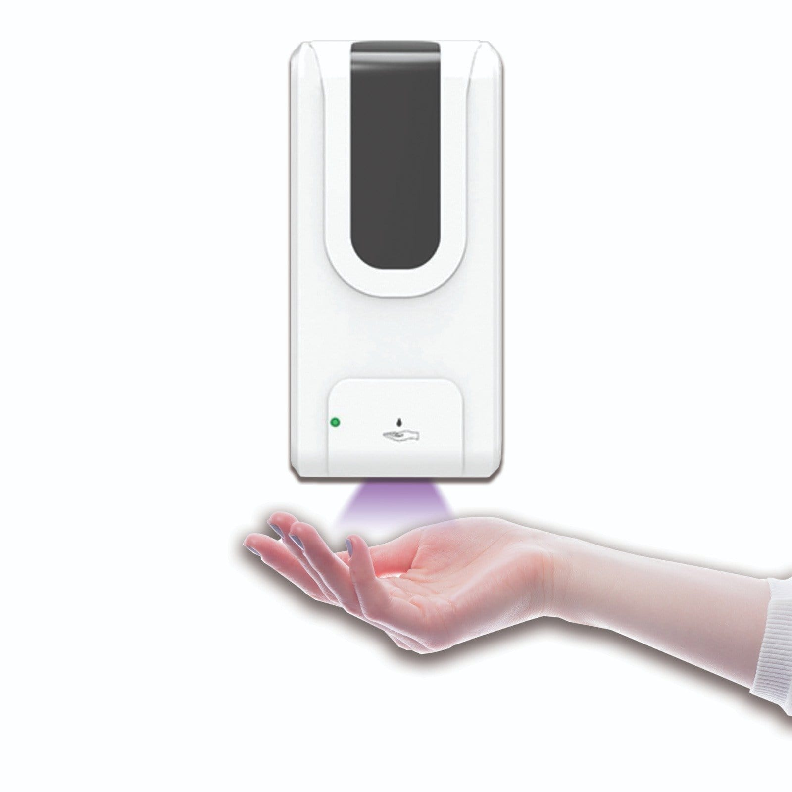 Hand Sanitizer Dispenser with Wall Mount, UV Disinfection (Gel and Liquid Sanitizer Compatible)
