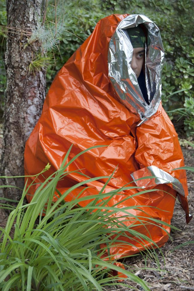 Orange Emergency Aluminized Heavy Duty Mylar Blanket