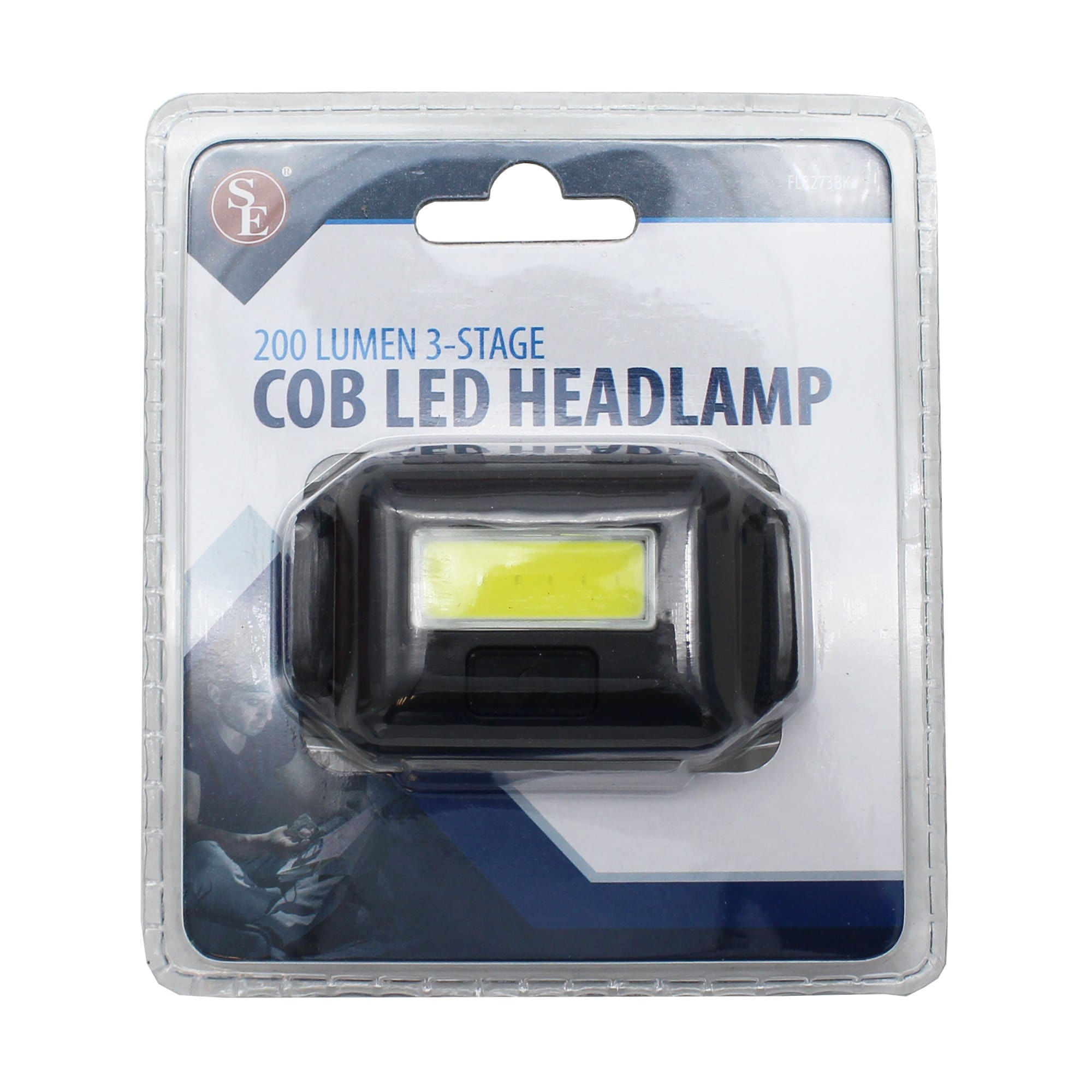 COB LED Headlamp - 200 Lumen / 3 Watt Energy Efficient front packaging