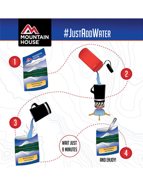 How to prepare a Moutain House pouch