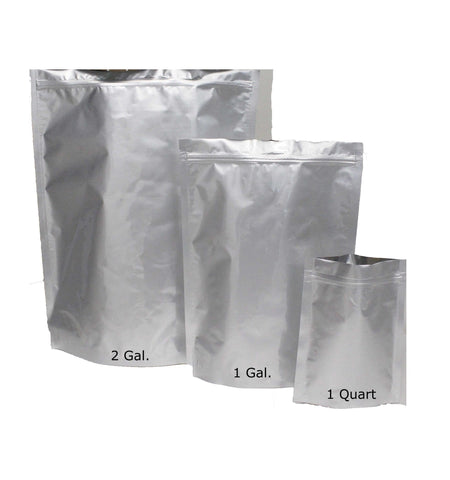 1 Gallon Mylar Bag with Ziplock Case of 50- 5.0 Mil: 25.40cm x 35.56cm x 10.16cm (10 inch x 14 inch x 4 inch)