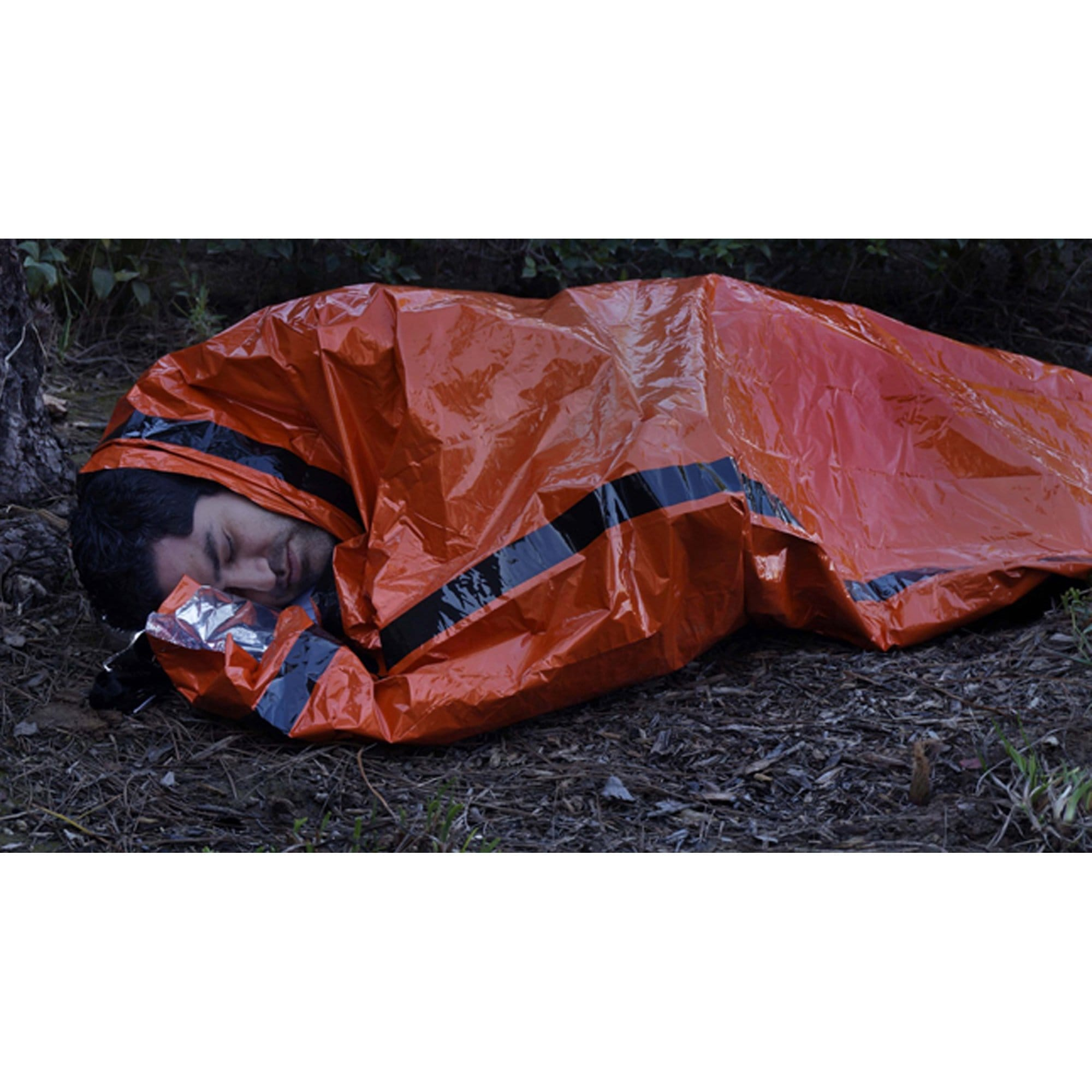 Orange Emergency Aluminized PE Heavy Duty Mylar Sleeping Bag