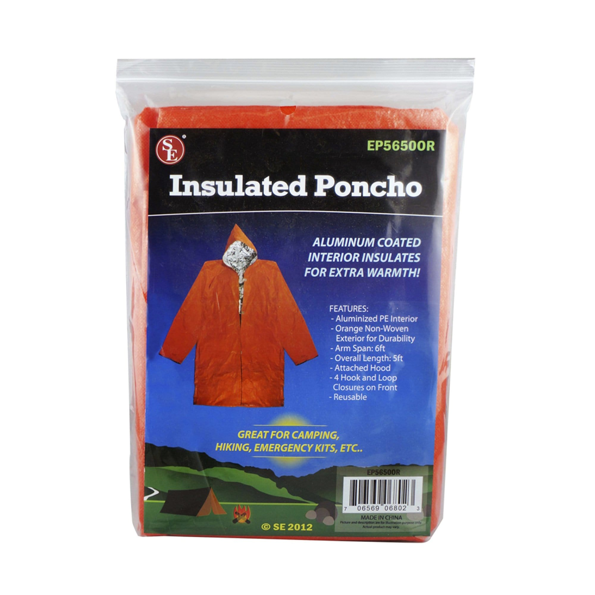 5ft Overall Length Aluminum Coated Insulated Poncho