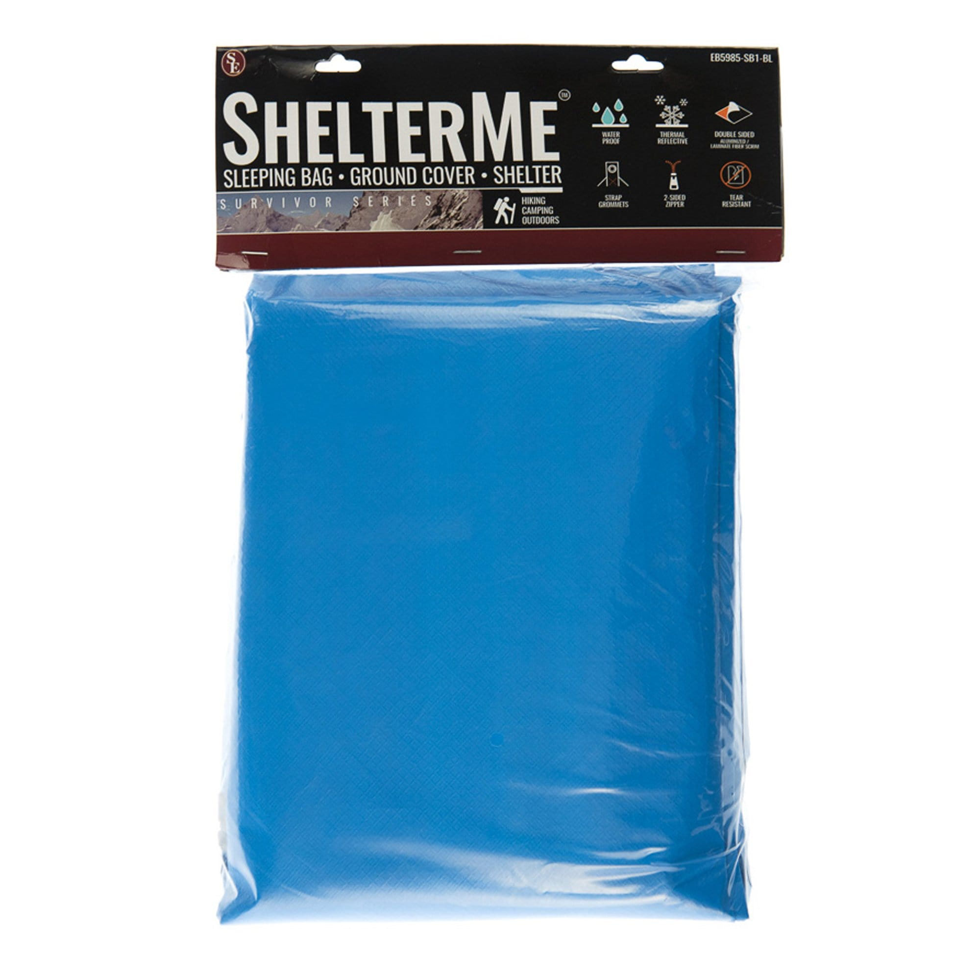 "Heavy Duty Emergency Sleeping Bag, Waterproof, 82""x 58"", Blue Color (Single Person)"