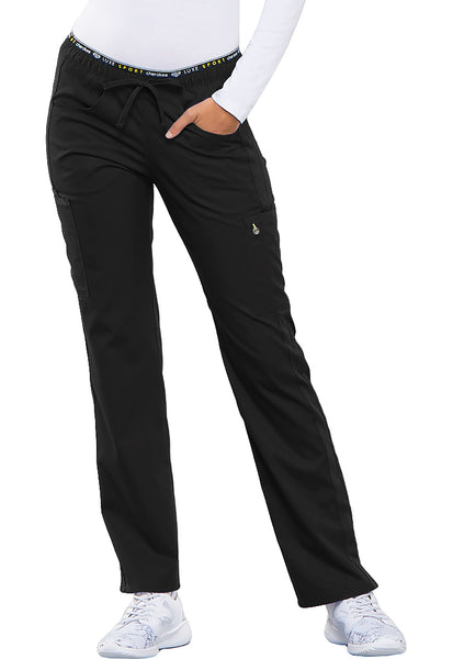 Photo of Black Cherokee CK003 Mid Rise Straight Leg Pull-on Pant