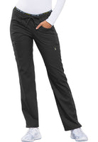 Photo of Pewter Cherokee CK003 Mid Rise Straight Leg Pull-on Pant
