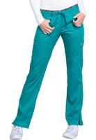Photo of Teal Cherokee CK003 Mid Rise Straight Leg Pull-on Pant