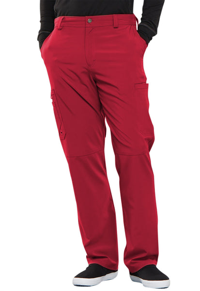 Photo of Cherokee Infinity Men CK200A Men's Fly Front Pant Red