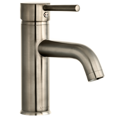 St. Lucia - Commercial grade single handle bathroom faucet, Brushed Nickel Finish | Lulani
