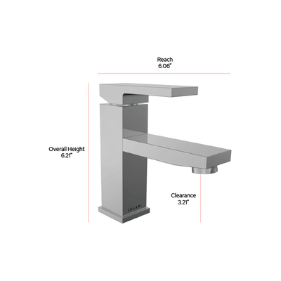 Boracay - Single handle bathroom faucet dimensions | Lulani Faucet Co