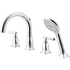 Bathtub faucet with hand shower.  Chrome Finish