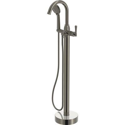 Aurora - Free standing bathtub faucet with hand shower.  Brushed Nickel finish | Lulani