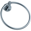 St. Lucia Collection - Chrome Hand Towel Ring | Lulani