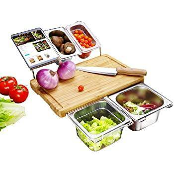Chopping Board with Tray and Juice Groove Easy and Fast Food-Prep