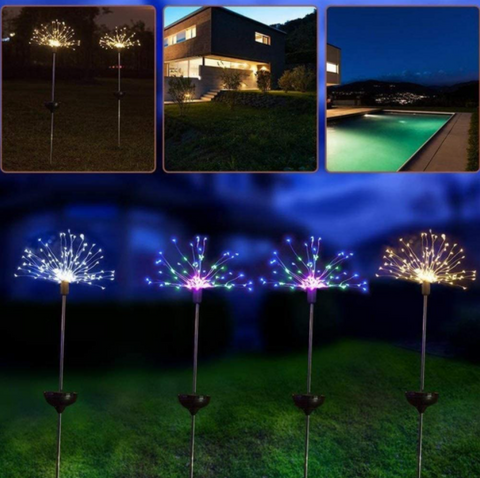 Image of Floor lamp Solar Fireworks Light 90/150 LED