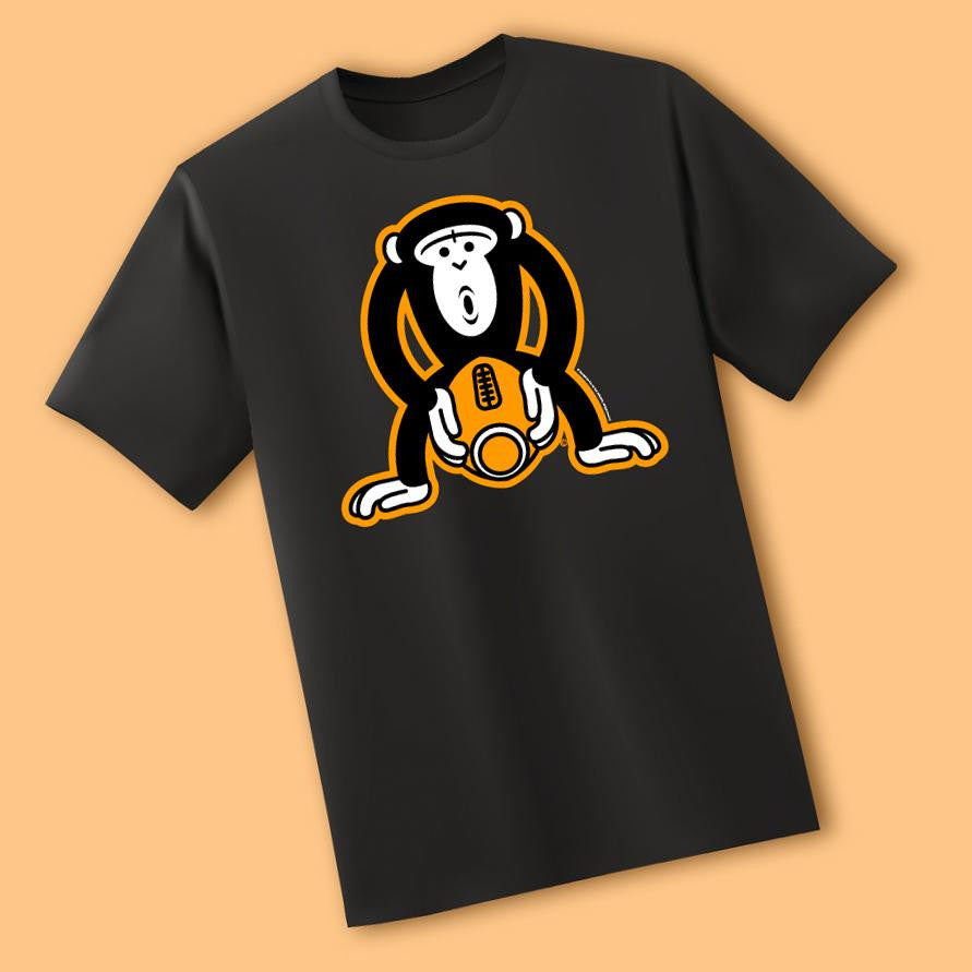 Monkey Fucking A Football<br/>Black T-Shirt - My Bad Co.
