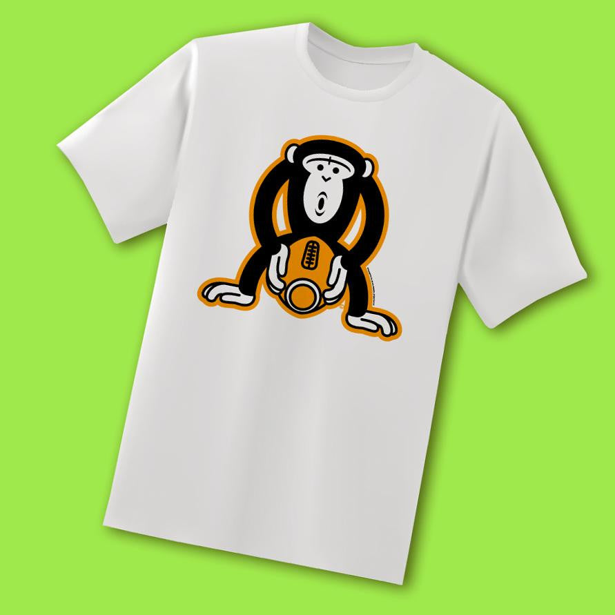 Monkey Fucking A Football<br/>White T-Shirt - My Bad Co.