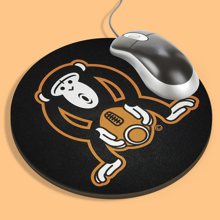 Monkey Fucking A Football<br/>Black Mouse Pad - My Bad Co.