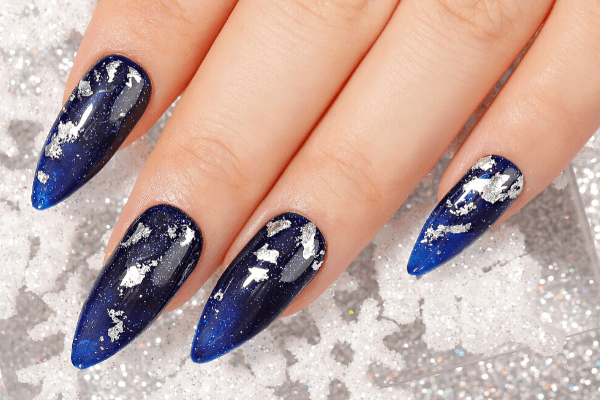 Bluesky Christmas Nails
