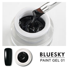 Load image into Gallery viewer, Bluesky Professional - Black Gel Paint - #DK01