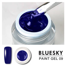 Load image into Gallery viewer, Bluesky Professional - Blue Gel Paint - #DK09