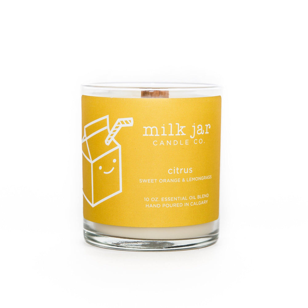 "Milk Jar Candle - Citrus ""Sweet Orange & Lemongrass"""