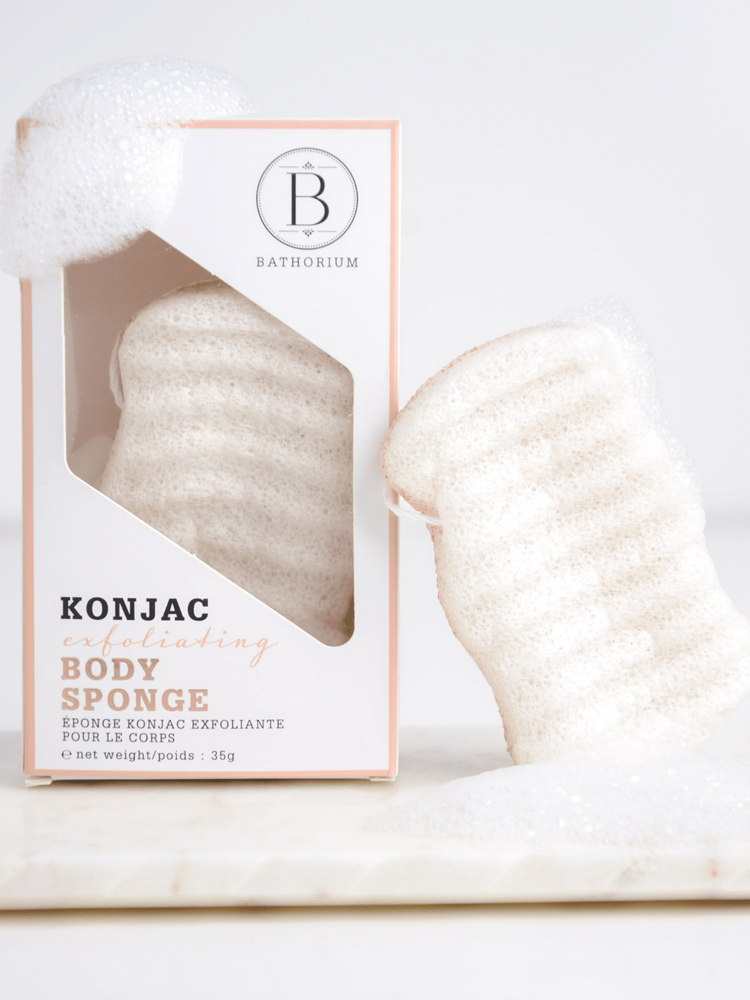 Bathorium Konjac Walnut Shell Exfoliating Body Sponge - Spirit Spa Shop