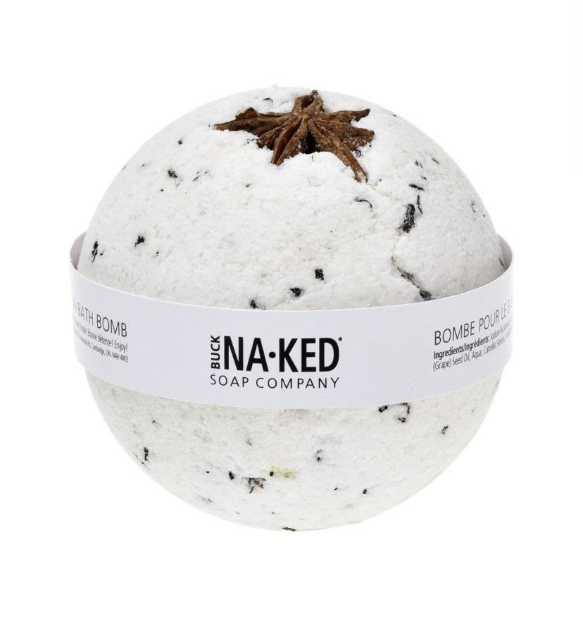 Load image into Gallery viewer, Buck Naked Vanilla Chai Bath Bomb - Spirit Spa Shop