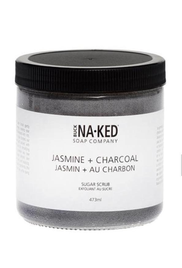 Load image into Gallery viewer, Buck Naked Jasmine + Charcoal Sugar Scrub - Spirit Spa Shop