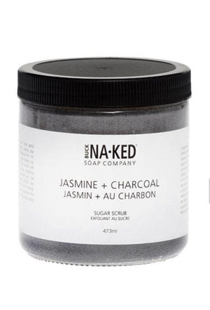 Buck Naked Jasmine + Charcoal Sugar Scrub - Spirit Spa Shop