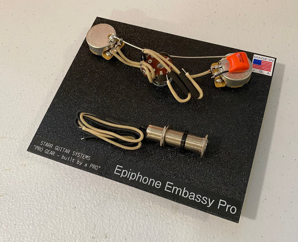 Wiring Harness for Epiphone Embassy Pro Bass: Standard