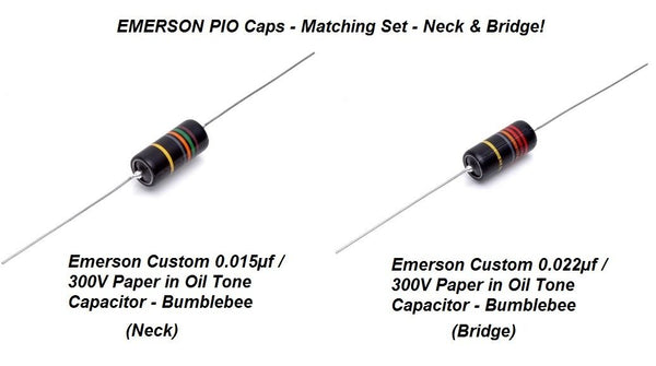 Emerson Paper In Oil Tone Capacitors (2) Neck & Bridge
