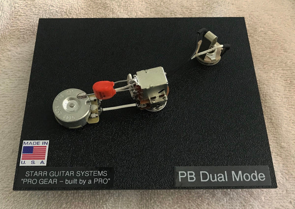 Wiring Harness for Fender P-Bass: Dual Mode