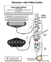Wiring Harness Fender Telecaster - 4 Way Switch
