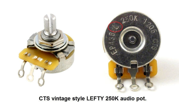 Left handed CTS vintage style 250K audio pot