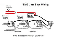 Wiring Harness for Fender J-Bass: Active Pickups (EMG)