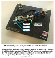 Wiring Harness Fender Nashville Telecaster - 7 Way Sound