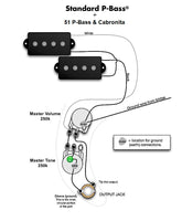 Wiring Harness for Fender 51 P-Bass: Pro