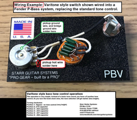 Wiring Harness for Fender P-Bass: Rotary Varitone