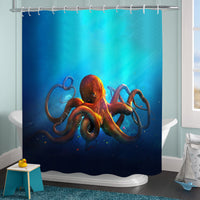 Vintage Aquatic Animal Kraken Tentacle Ocean Life Orange Octopus