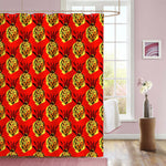 Exotic Pineapples Pattern Shower Curtain - Red Yellow