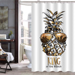 Pineapple in Sunglasses Inspirational Shower Curtain - Gold