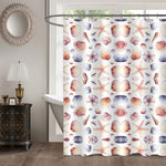 Hand Drawn Sea Shells and Starfishes Shower Curtain
