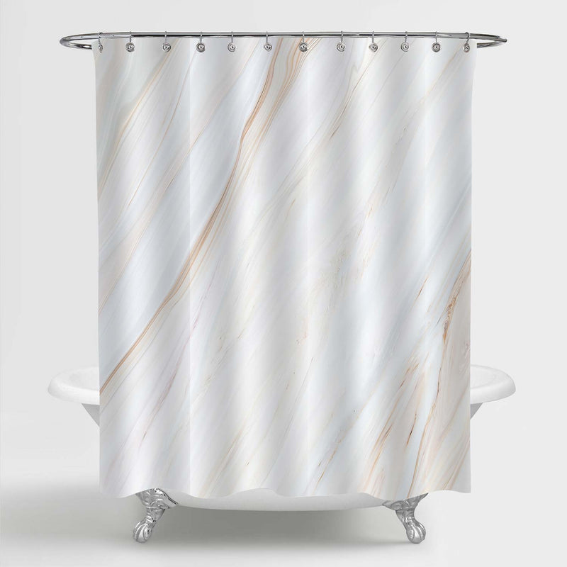 Natural Marble Texture Shower Curtain - Beige