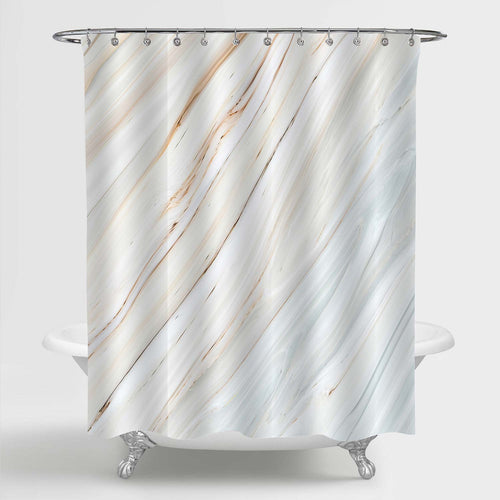Watercolor Hand Drawn Gradient Marble Texture Shower Curtain - Beige
